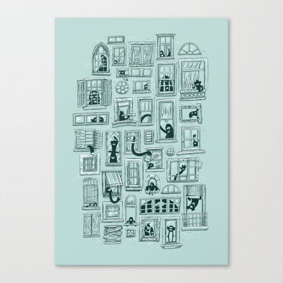 I've Seen Strange Things in City Windows Canvas Print