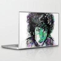 bob dylan Laptop & iPad Skins featuring Bob Dylan by Irmak Akcadogan