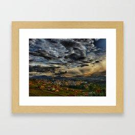 Clouds over São Lourenço Framed Art Print