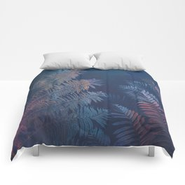 Abstract Fern Comforters