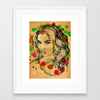 dots Framed Art Prints featuring Dots by Irmak Akcadogan