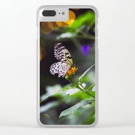 Butterflies + Twinkle Lights 1 Clear iPhone Case
