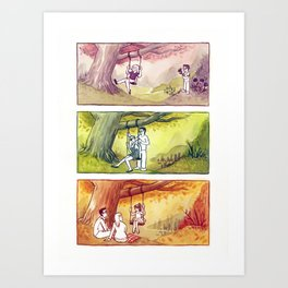 The Trees and the Cicadas Art Print