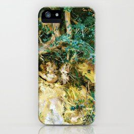Valdemosa, Majorca, Thistles and Herbage on a Hillside - Digital Remastered Edition iPhone Case