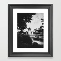 | journey in space-time - a sanctuary for the spirit, chapter II | Framed Art Print