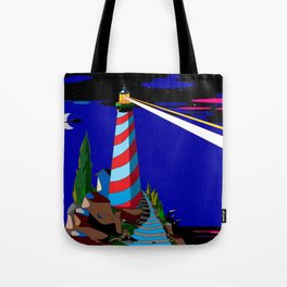 A Night at the Lighthouse with Search Light Active Tote Bag