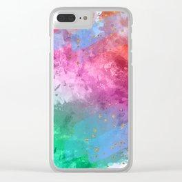 Rainbow Stars Clear iPhone Case