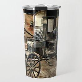 Vintage Horse Drawn Carriage Travel Mug