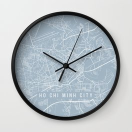 Ho Chi Minh City Map, Vietnam - Slate Wall Clock