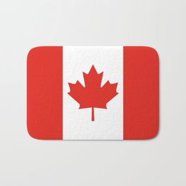 Red and White Canadian Flag Bath Mat