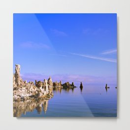 Reflections at Mono Lake Metal Print