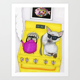 Blind Cat Art Print
