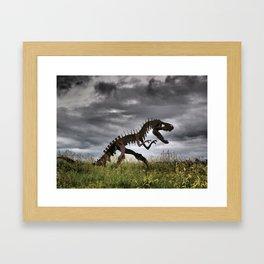 Steel T-Rex Framed Art Print