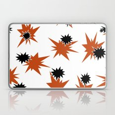 Stars (Orange & Black on White) Laptop & iPad Skin