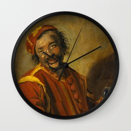"Frans Hals ""Laughing man with crock, known as 'Peeckelhaeringh or 'Pekelharing'"" Wall Clock"