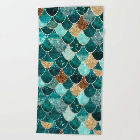 REALLY MERMAID Beach Towel by Monika Strigel Society6