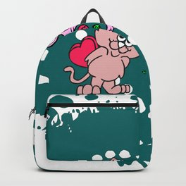 cats couple gift for valentine day Backpack