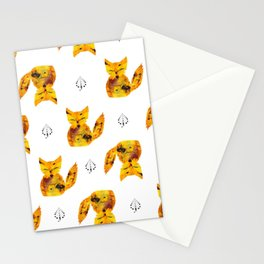 Pressed Flower Fox Print Stationery Cards