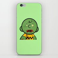 charlie brown iPhone & iPod Skins featuring Zombie Charlie Brown by rkbr