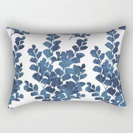 Blue watercolor maidenhair fern Rectangular Pillow