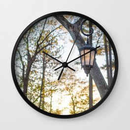 Golden Fall Wall Clock