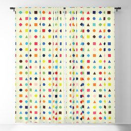 Dot Triangle Square Plus Repeat Blackout Curtain