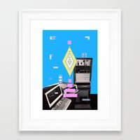 computer Framed Art Prints featuring COMPUTER GAMES by MAR AMADOR