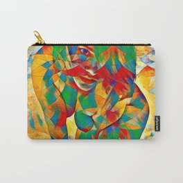 3334s-SRC Abstract Woman with Blue Eyes Rendered in Color and Style Carry-All Pouch