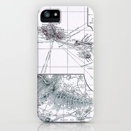 Vintage Hawaii Map 1899 iPhone Case