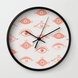 Many Eyes Wall Clock