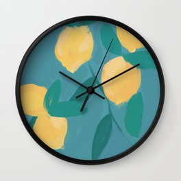 The Pastel Lemon View Wall Clock