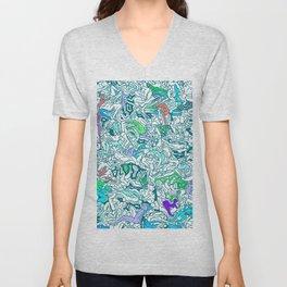 Kamasutra LOVE - Sea Blue Green Turquoise Min Unisex V-Neck