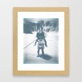 Hello (rainbow) Framed Art Print