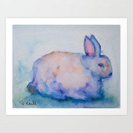 Gertie the Rabbit Art Print