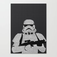 stormtrooper Canvas Prints featuring Stormtrooper by  Steve Wade ( Swade)