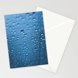 Abstract blue water drops Stationery Cards