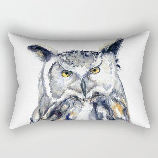 A Serious Owl Rectangular Pillow