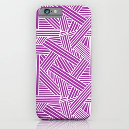 Sketchy Abstract (White & Purple Pattern) iPhone Case