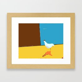 Donald the Strolling Rooster. Framed Art Print