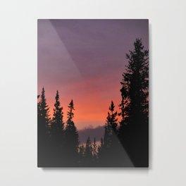 Sunset inYellowstone Park Metal Print