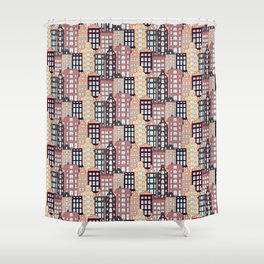 City patter Shower Curtain