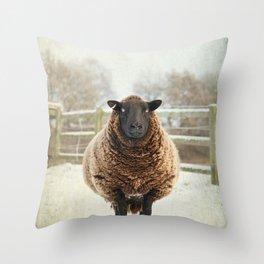 Zombie sheep Throw Pillow