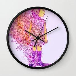 Flame doodle Wall Clock