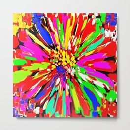 Dahlia Psychedelic Abstract 2 Metal Print