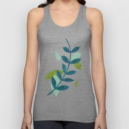 Simple Leaves Unisex Tank Top