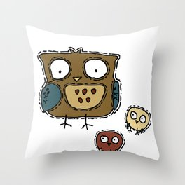 Two Hoots Throw Pillow
