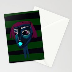 portrait of a girl Stationery Cards