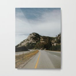 Highway View Metal Print