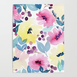 Tropical Poppies Poster