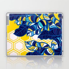 Geo Pop Foliage on Yellow & White Laptop & iPad Skin
